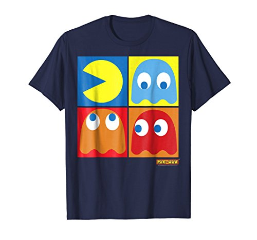 Pac-Man 3 Ghosts 4 Squares Abstract Graphic