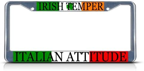 Fastasticdeals American by Birth Irish by Grace God Heavy License Plate Frame Tag Holder Cover