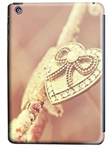 PhoenixShop iPad Mini 3D Phone Case , Heart Necklace Gold Pink Special Designed Lightweight Hard Shell PC 3D Case For iPad Mini