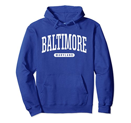 Blue Adult Md Apparel (Unisex Baltimore Hoodie Sweatshirt College University Style MD USA Small Royal Blue)