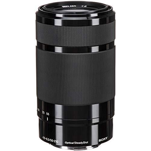 Sony E 55-210mm F4.5-6.3 Lens for Sony E-Mount Cameras (Black) - International Version (No Warranty) (Sony Alpha A7s)