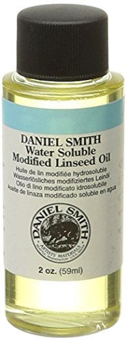 DANIEL SMITH Water Soluble Linseed Oil, 2-Ounce Bottle ()