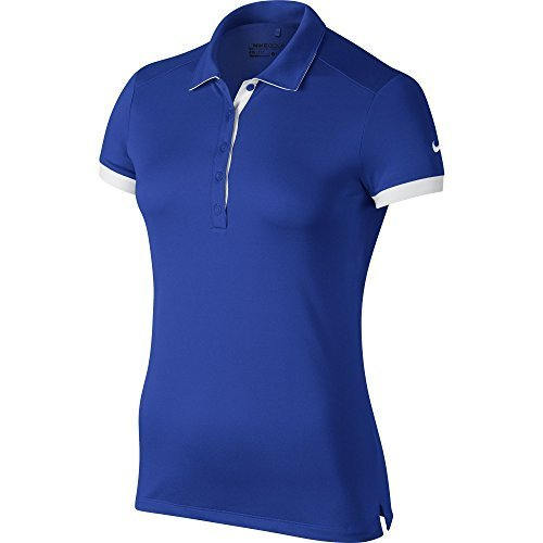 NIKE Golf Women's Victory Colorblock Polo (Game Royal/White) S