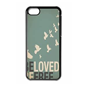 LJF phone case Be Free Brand New Cover Case for Iphone 5C,diy case cover ygtg580813