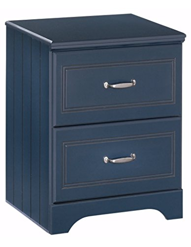 Ashley Furniture Signature Design - Leo Nightstand - 2 Drawers - Casual Styling with Crisp Finish - Blue (Inside Furniture Mile End)