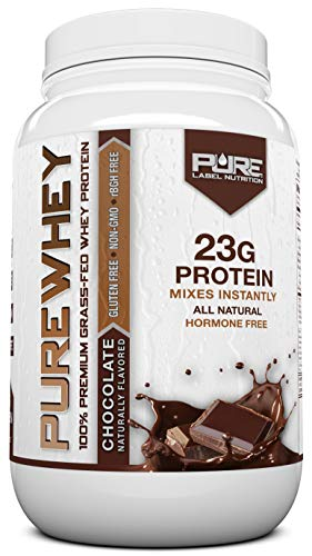 Grass Fed Whey Protein Powder | Chocolate 2lb Grass Fed Whey | 100% Natural Whey w/No Added Sugars | rBGH Free + GMO-Free + Gluten Free + Preservative Free | Pure Whey (Best Tasting Grass Fed Whey Protein Powder)
