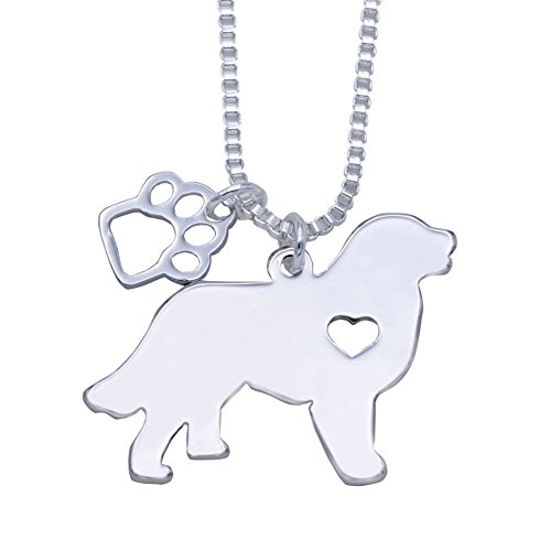 - Melix Animal Yorkie Labrador Pitbull Husky Alaskan Akita Boxer Corgi Dachshund German Shepherd Golden Retriever Stainless Steel Pet Dog Doggy Pendant Necklace Gift