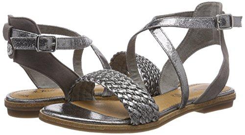 Mujer Abierto Talón Grey Oliver para Silver s Sandalias de Gris 28115 wS4Sq1U