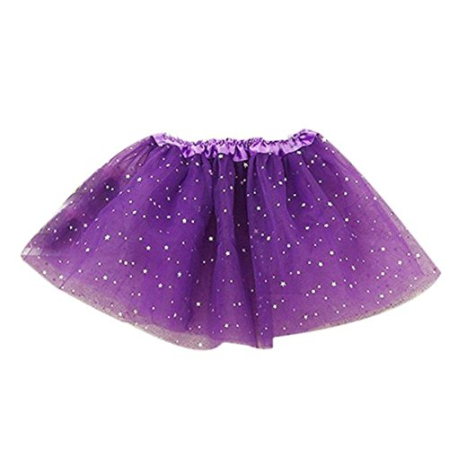 GBSELL Baby Kids Girls Princess Fairy Stars Sequins Party Dance Ballet Tutu Skirts Bubble Short Skirt (Sequined Bubble Dress)