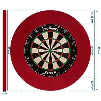 collection Tour surround pour cibles fl/échettes toutes marques bordure stable de haute qualit/é anneau rouge cibles pour fl/échettes protection murale pour cible sans montage suppl/émentaire