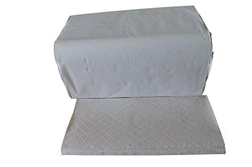 3200 Falthandtücher 2 lagig 25 x 23 cm weiß ZZ-Falz Papierhandtücher Handtuchpapier Einmalhandtücher