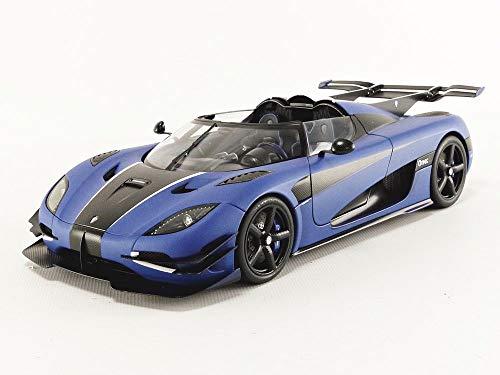 AUTOart 79018 1:18 Koenigsegg ONE : 1 (MATT Imperial Blue/Carbon Black/White Accents) 18 Autoart Diecast Model