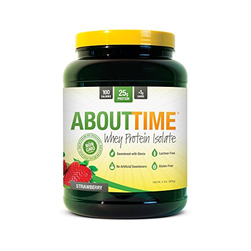 Time Whey Protein Isolate Powder, Strawberry, 2 Pound (About Time Whey Protein)
