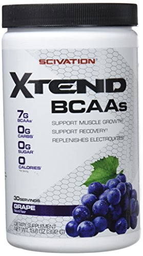 Scivation Xtend BCAA Powder, Branched Chain Amino Acids, BCAAs, Grape, 30 Servings