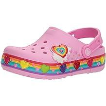 Crocs Kids' Girls Crocband Rainbow Hearts Light-Up Clog