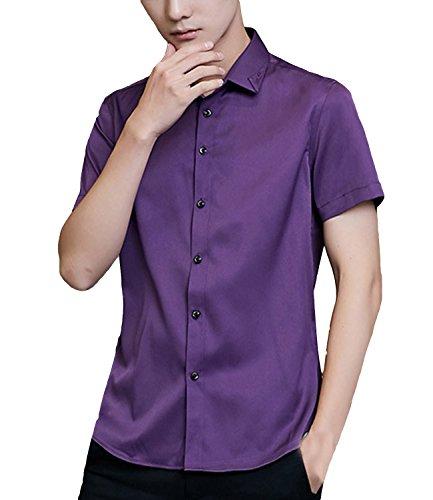 Embroidered Short Sleeve Work Shirt - 8
