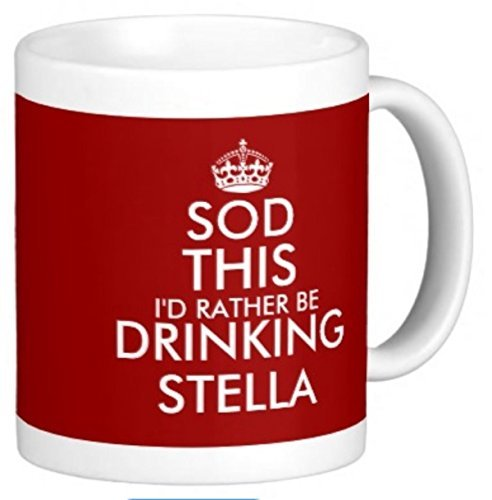 hiusan Sod This I'd Rather Be Drinking Stella A Fun Gift For Any Stella Artois Lager Beer Fan Mug For Any Father, Son, Husband - A Fun Gift For Christmas Or Birthday