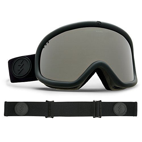 Electric Visual Charger Matte Black/Brose Silver Chrome Snow - Shop Goggles