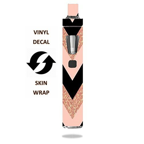 Joytech Accessory - Decal Sticker Skin WRAP - Joyetech eGo AIO - Pink Black Chevron (not Real Glitter)