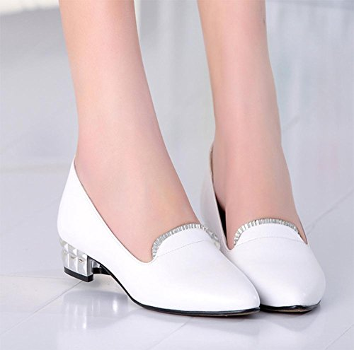 Spring and autumn ladies shoes to increase the shoes flat bottom pointed women's shoes shallow mouth women's shoes with low-heeled shoes with lazy shoes , US7.5 / EU38 / UK5.5 / CN38