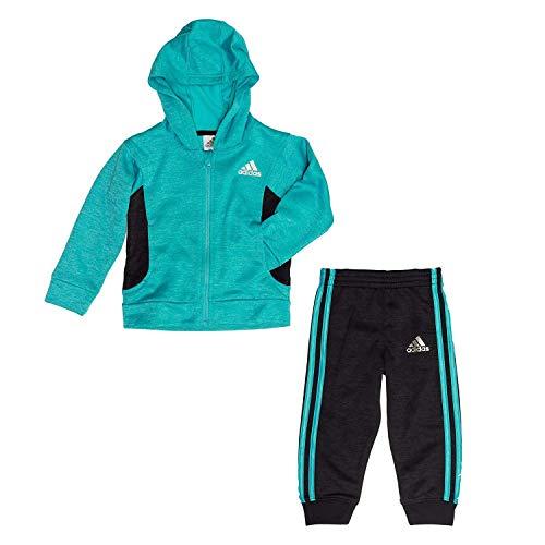 adidas 2-Piece Girls Sz6 Athletic Sweatsuit Teal & Gray