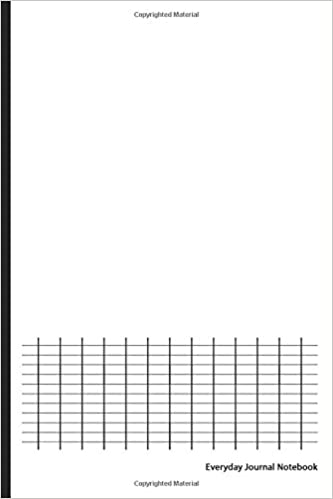 Everyday Journal Notebook Graph Paper White Cover 6 X 9
