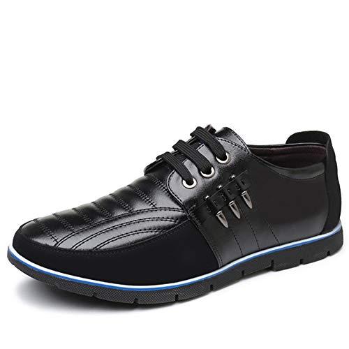 Flat Stile In Nero Per Soft Casual Pelle Shoes Scarpe Business Uomo FlK1cTJ