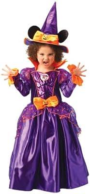 Disney - Disfraz de Minnie Mouse Bruja con sombrero para niña ...