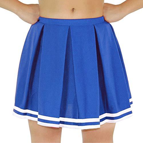 Cheerleading Skirt - Danzcue Womens Knit Pleat Cheerlearding Uniform Skirt, Royal/White, X-Small