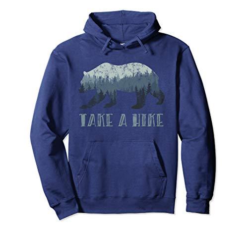 Take a Hike Bear Silhouette Pullover Hoodie