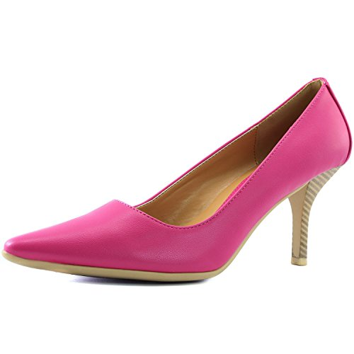 DailyShoes Women's Comfortable Ponited Toe Non-Slip High Heel Pump Shoes, - Purple Women Pump