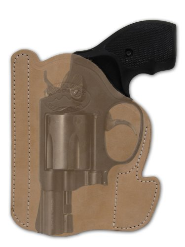 Barsony Natural Tan Leather Gun Concealment Pocket Holster for Taurus 17 941