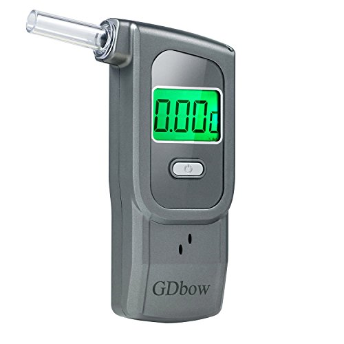 - GDbow Breathalyzer Portable Alcohol Tester Recording Recent 32 Results with 5 Mouthpieces -Grey