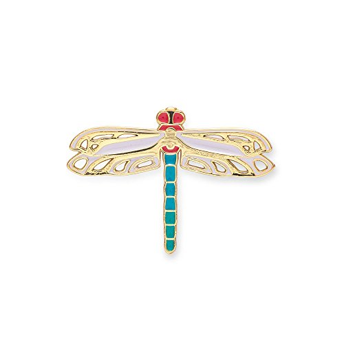 eum of Art Elegant Enamel Novelty Dragonfly Pin for Lapel ()