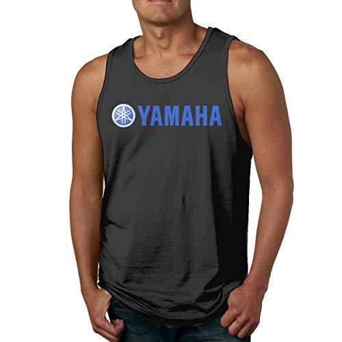 BOSIJCAI Design Yamaha-Logo Tank Top T-Shirt for Men O-Neck Black L (Yamaha Tank)
