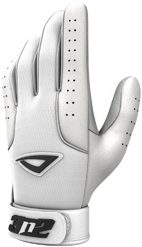 Pro Baseball Gloves - White (Youth Medium) by 3N2