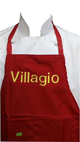 CHEFSKIN Personalized Custom Embroidery Name Apron Choose Size Color Font, Beautiful Makes a Great Gift! (Teens-Slim Adult)
