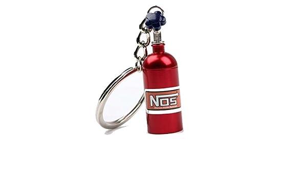 NOS óxido nitroso Botella Nitro llavero - Turbo Llavero in 4 Colores - G60 G40 VR6 16V - DUB DUBWAY - Rojo: Amazon.es: Coche y moto