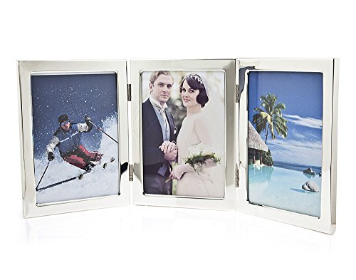 Godinger Silverplated Classic Triple Picture Frame - 5x7 Photos (Godinger Old Country Roses)
