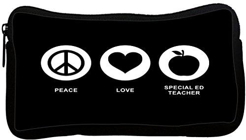 Rikki Knight Peace Love Special Ed Teacher Black Color Ne...