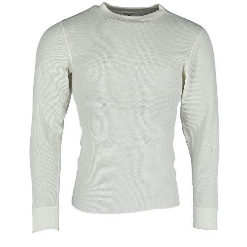 - Hanes Men's Crew Neck Long Sleeve Thermal Shirts (2 Pack), XL, Natural