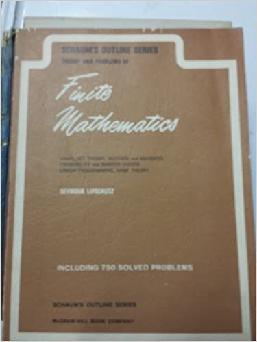 Finite Mathematics, Schaum's Outline Series Theory and