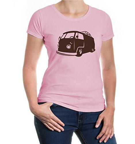 Girlie T-Shirt Hippi-Bus Lightpink