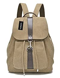 Tibes Cute Canvas Small Backpack for Girls/Women