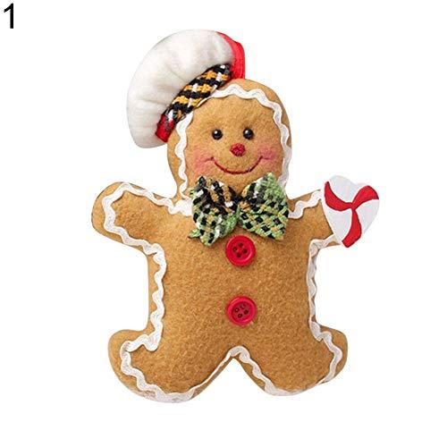 Wintefei Kids Gift Christmas Ornament Gingerbread Christmas Man Tree Hanging Pendant Ornament Decoration Xmas Gift Boy Gingerbread