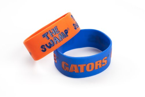 NCAA Florida Gators Silicone Rubber Bracelet, 2-Pack