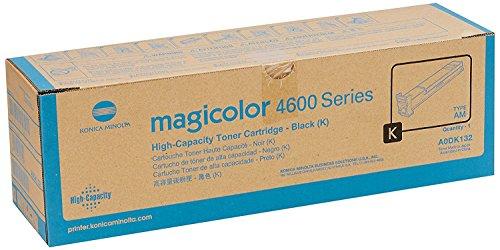 Konica Minolta magicolor 4650, 4690MF, 4695MF Black High Capacity Toner Cartridge (8,000 Yield), Part Number A0DK132 from Konica-Minolta