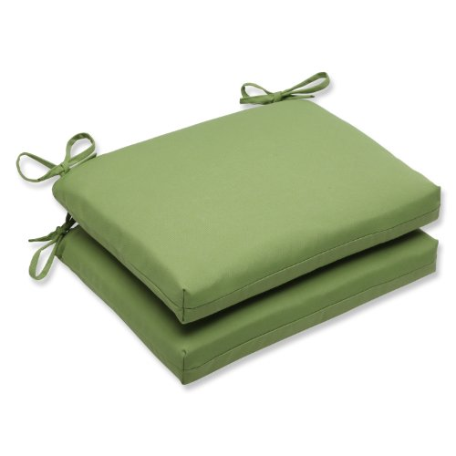 Pillow Perfect Squared Corners Seat Cushion with Green Sunbr