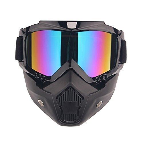 Matt Black Motorbike Helmet - 6