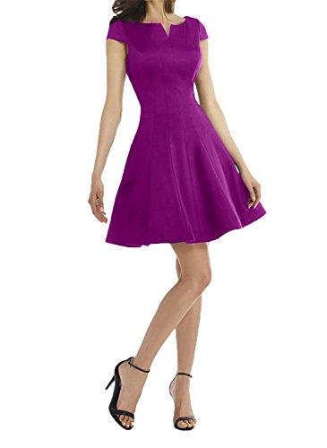 Abendkleider Festlichkleider Kurzes Royal Blau Partykleider Mini Tanzenkleider Charmant Fuchsia Damen Brautmutterkleider qXR8qZ